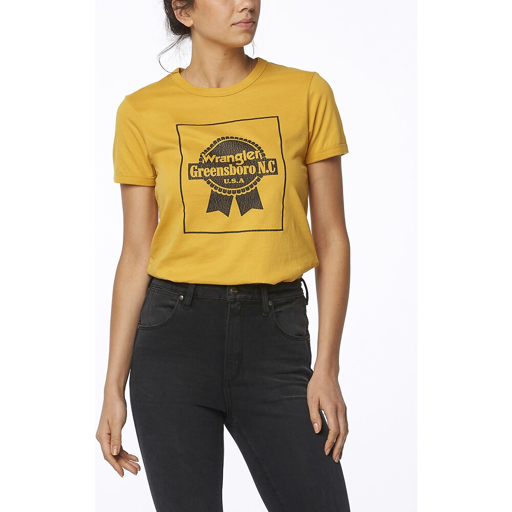 Image of Wrangler 70s Yellow Off The Track Ringer 70S Yellow