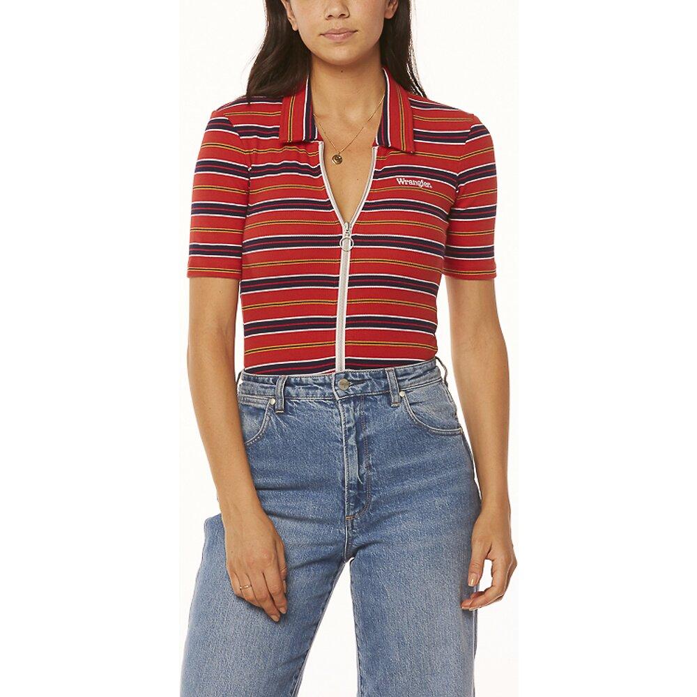 Image of Wrangler Red Stripe Bleeker Body Suit Red Stripe