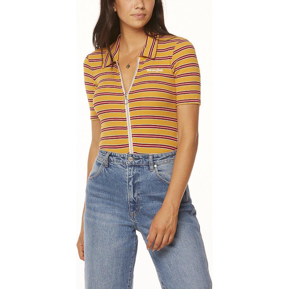 Image of Wrangler Mustard Stripe Bleeker Body Suit Mustard Stripe