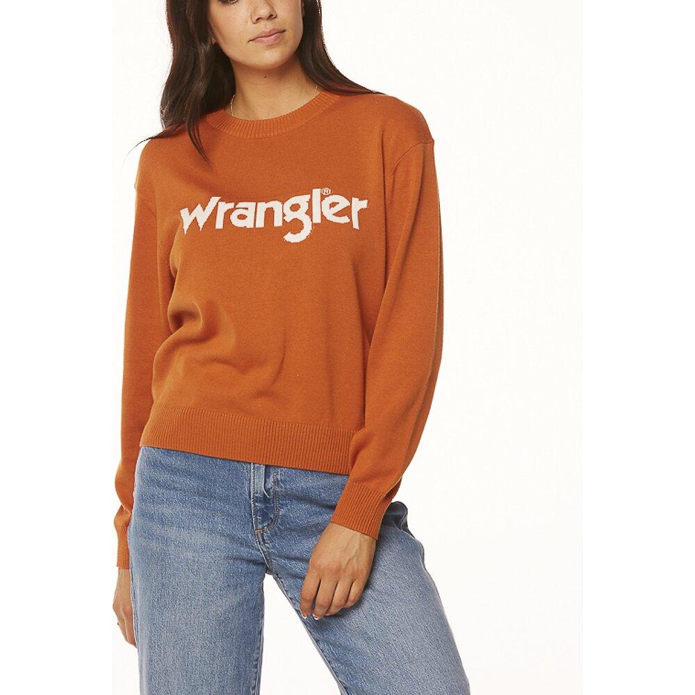 Image of Wrangler Rust Wrangler Sweater Rust