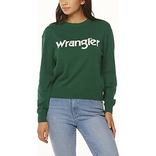 Image of Wrangler Green Blue Wrangler Sweater Green/White