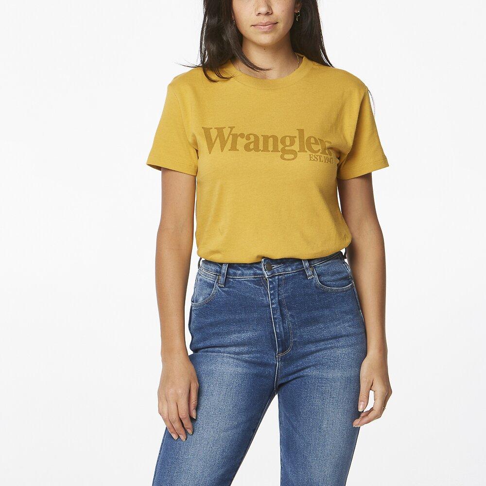 Image of Wrangler Soft Gold Lights Logo Tee Soft Gold