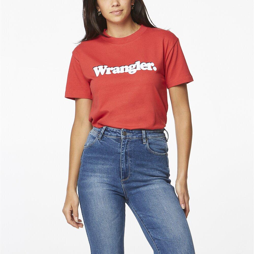 Image of Wrangler Vintage Red Veda Tee Vintage Red