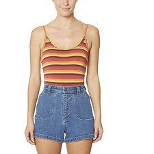 Image of Wrangler Sunset Stripe Lo Cut Bodysuit Sunset Stripe